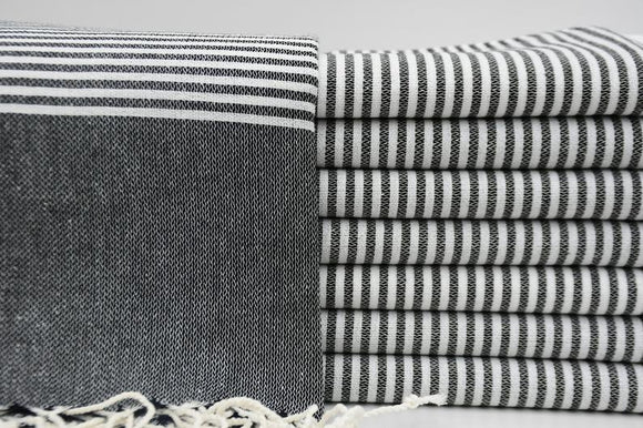 MONTE CARLO BLACK TURKISH TOWEL
