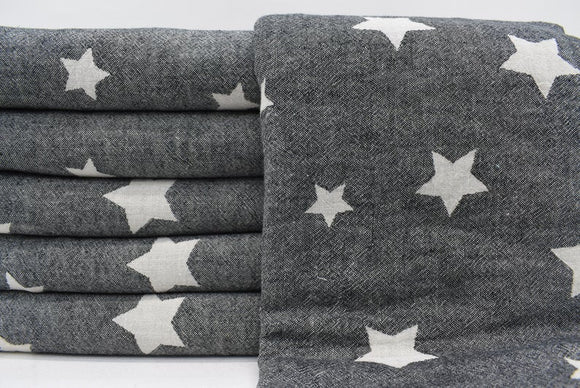 STAR BLACK TURKISH TOWEL
