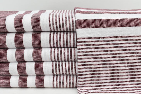 MONTE CARLO BURGUNDY TURKISH TOWEL