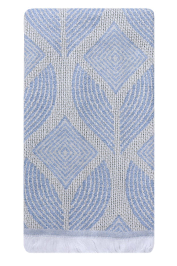 LEAF BLUE TURKISH TOWEL