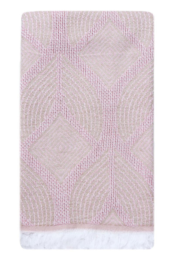LEAF PINK TURKISH TOWEL
