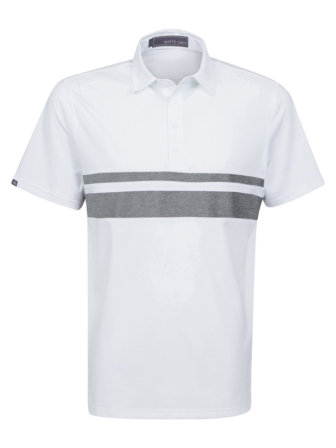 Anders - White (Charcoal Heather)
