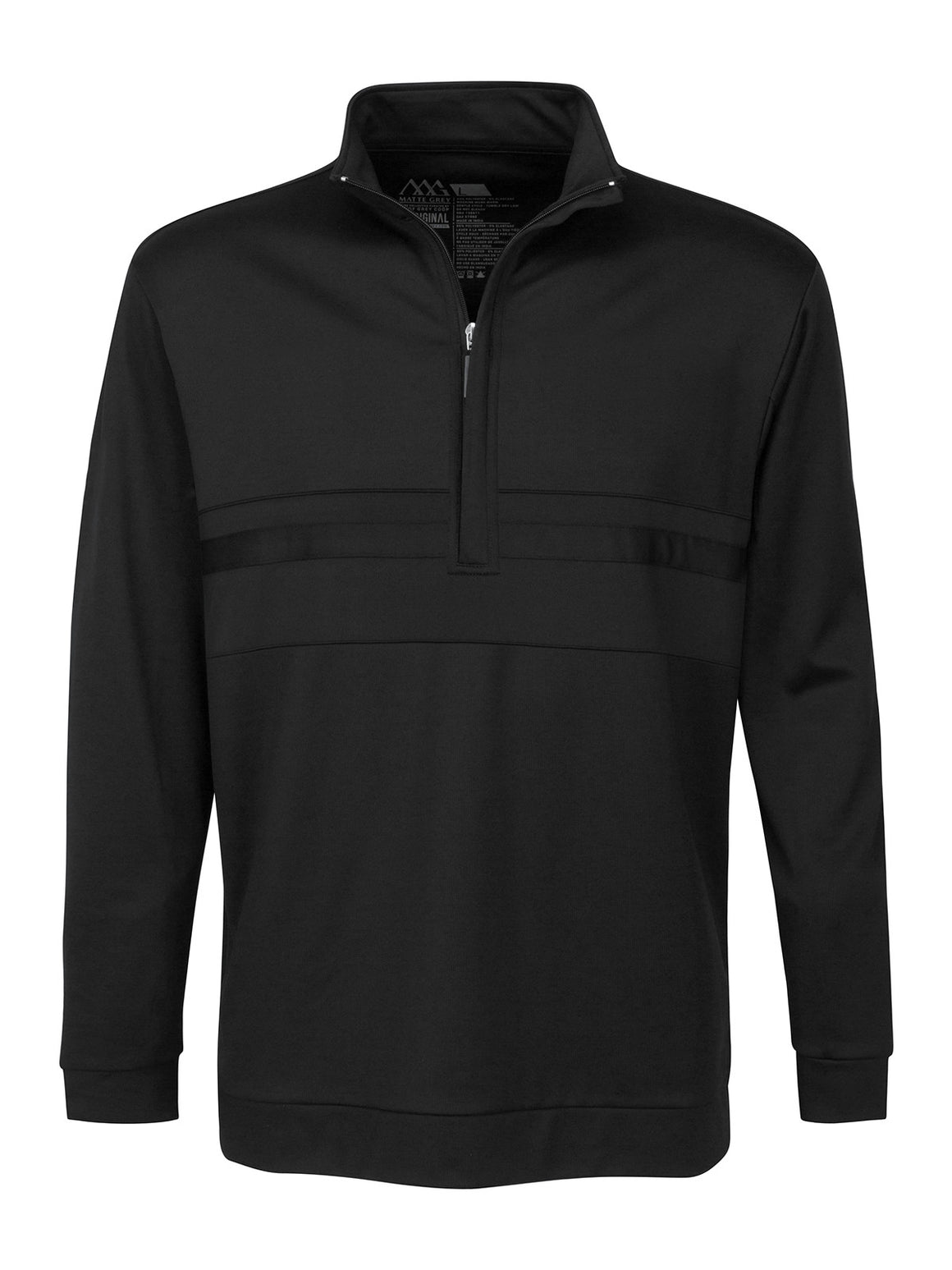 Anders Half Zip - Black