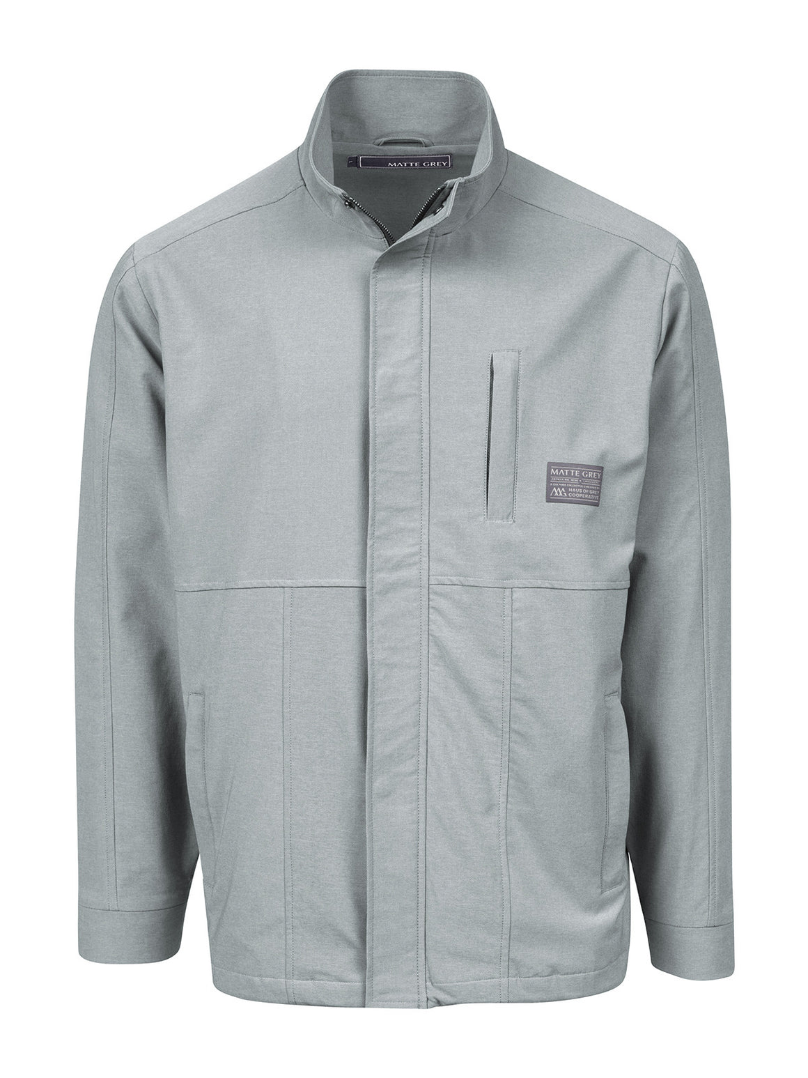 Trekker Badge Jacket - Opal Grey