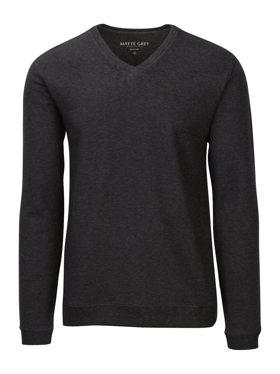 Rover Long Sleeve V-Neck - Charcoal