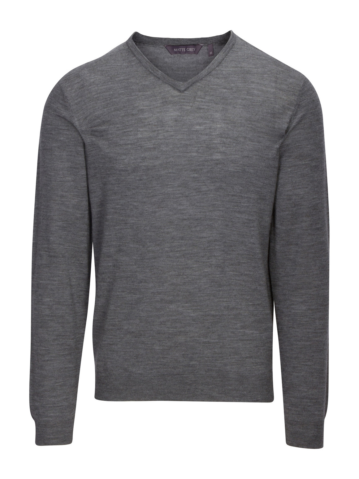 Ridge Long Sleeve V-Neck Sweater - Jet Grey