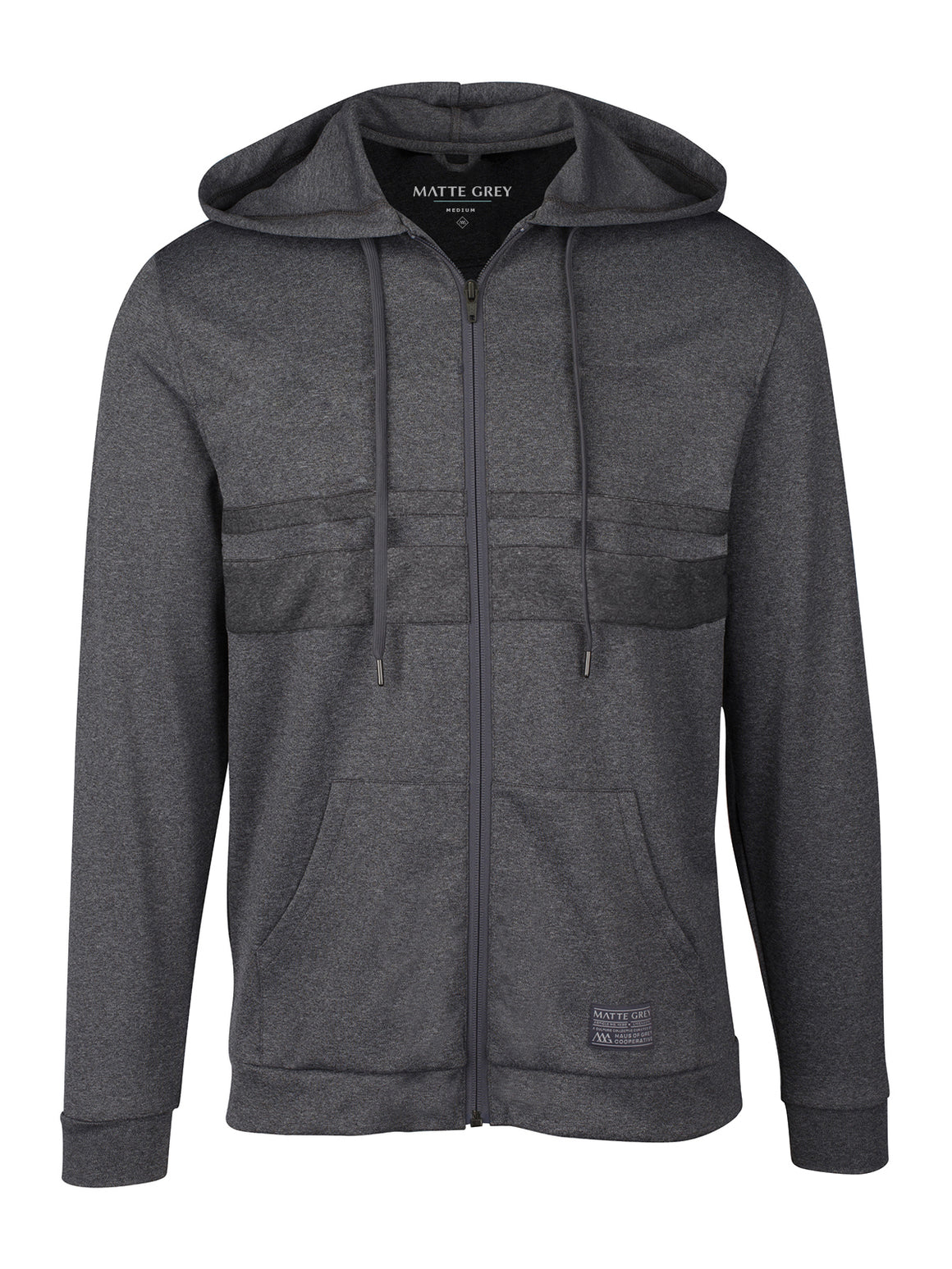 Badge Anders Hoodie - Black Heather