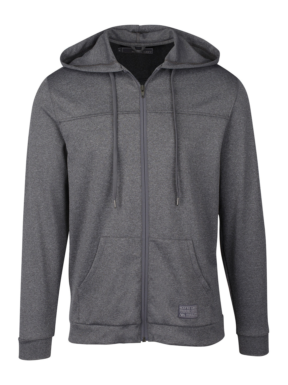 Badge Bandit Hoodie - Charcoal Heather