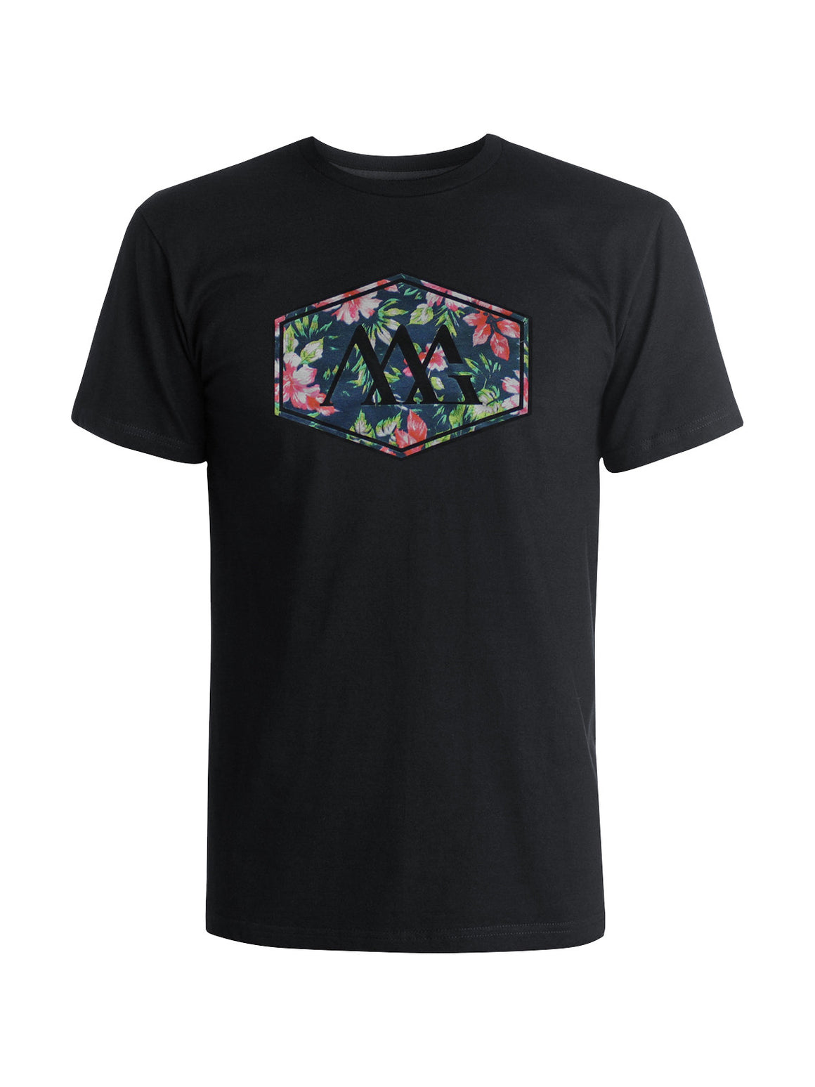Hex Aloha Tee Shirt - Black (Hawaiian Black)