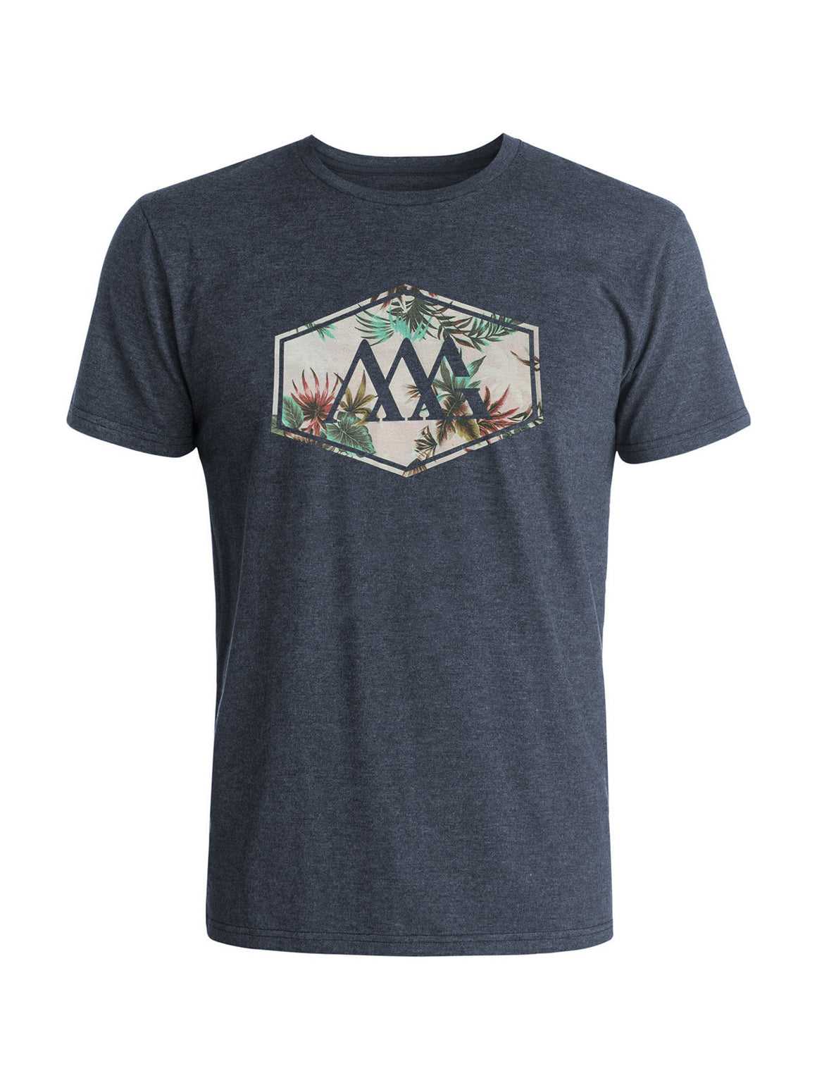 Hex Aloha Tee Shirt - Navy Hea (Hawaiian Tan)