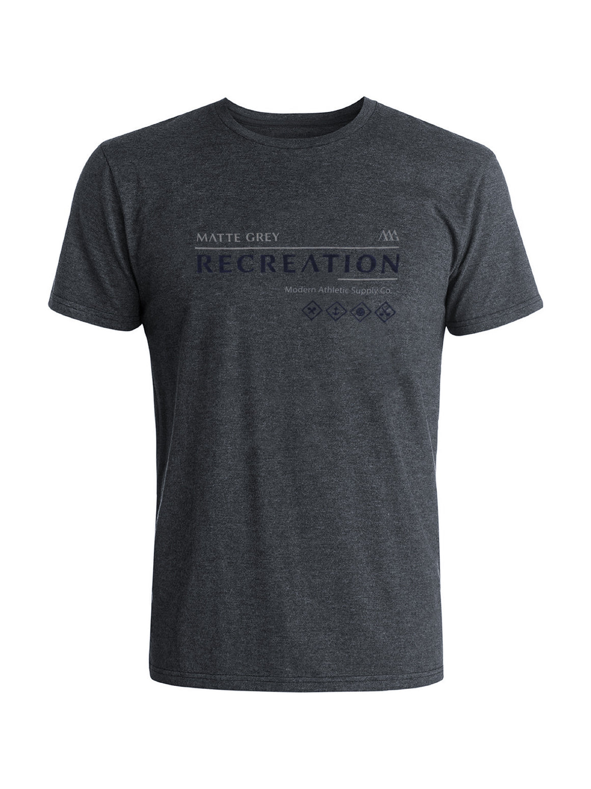 Recreation Tee Shirt - Graphite Hea (Light Grey / Navy)