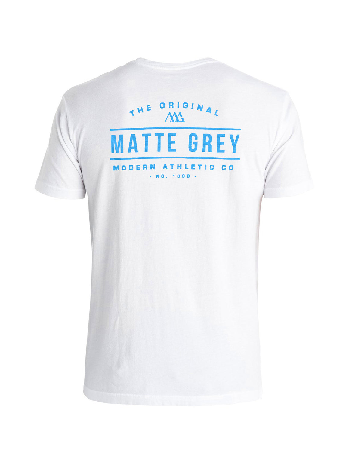 Marquee Tee Shirt - White (Baja Blue)