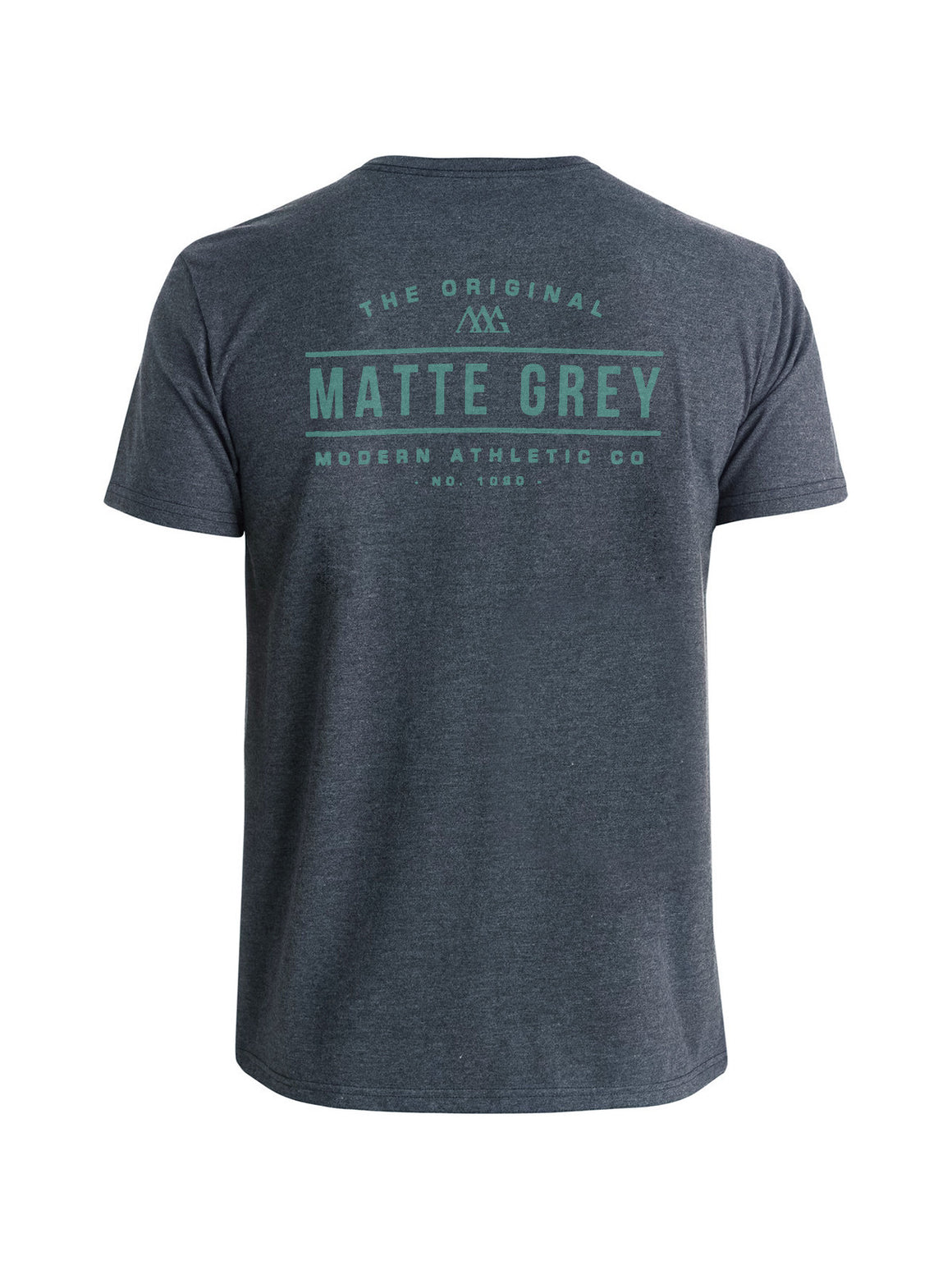 Marquee Tee Shirt - Graphite Heather (Sea Green)