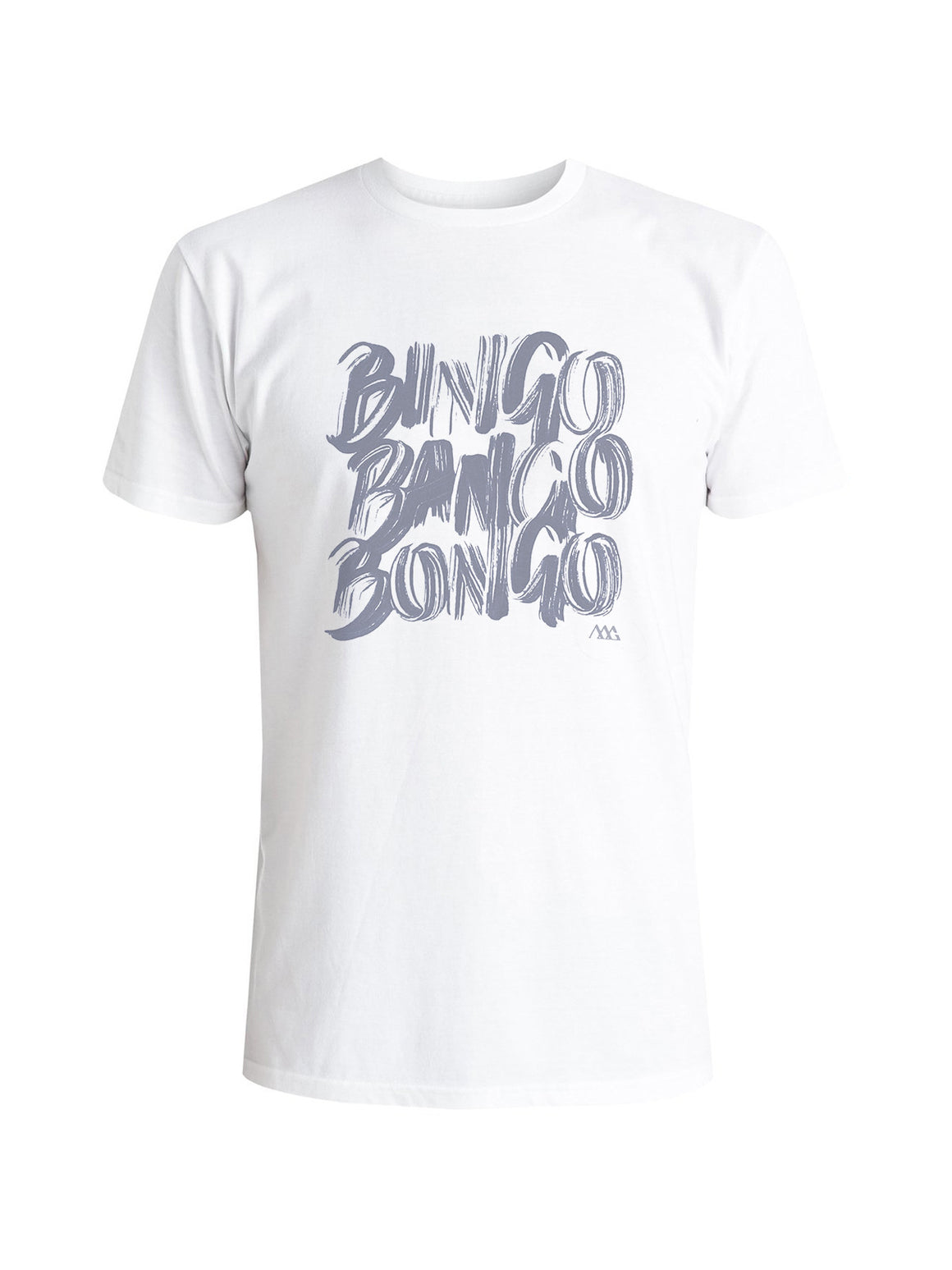 Bingo Tee Shirt - White (Navy)