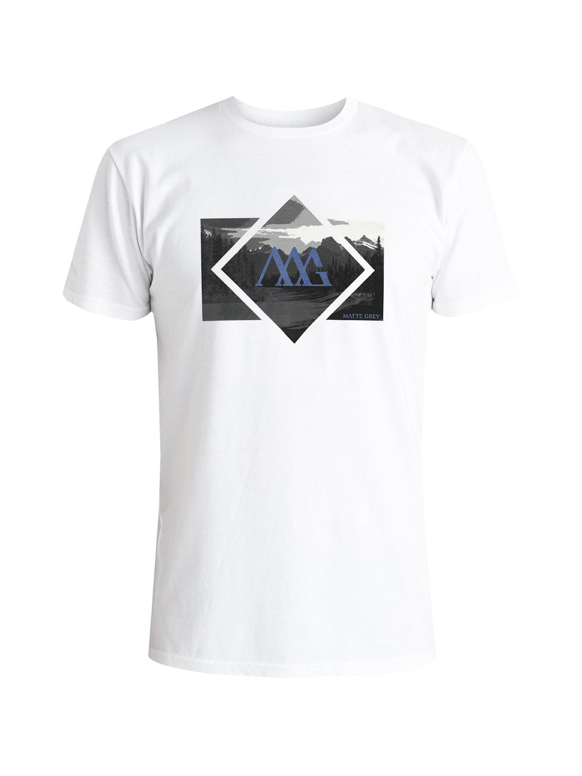 Diamond Vista Tee Shirt - White (Black / Dk Teal)