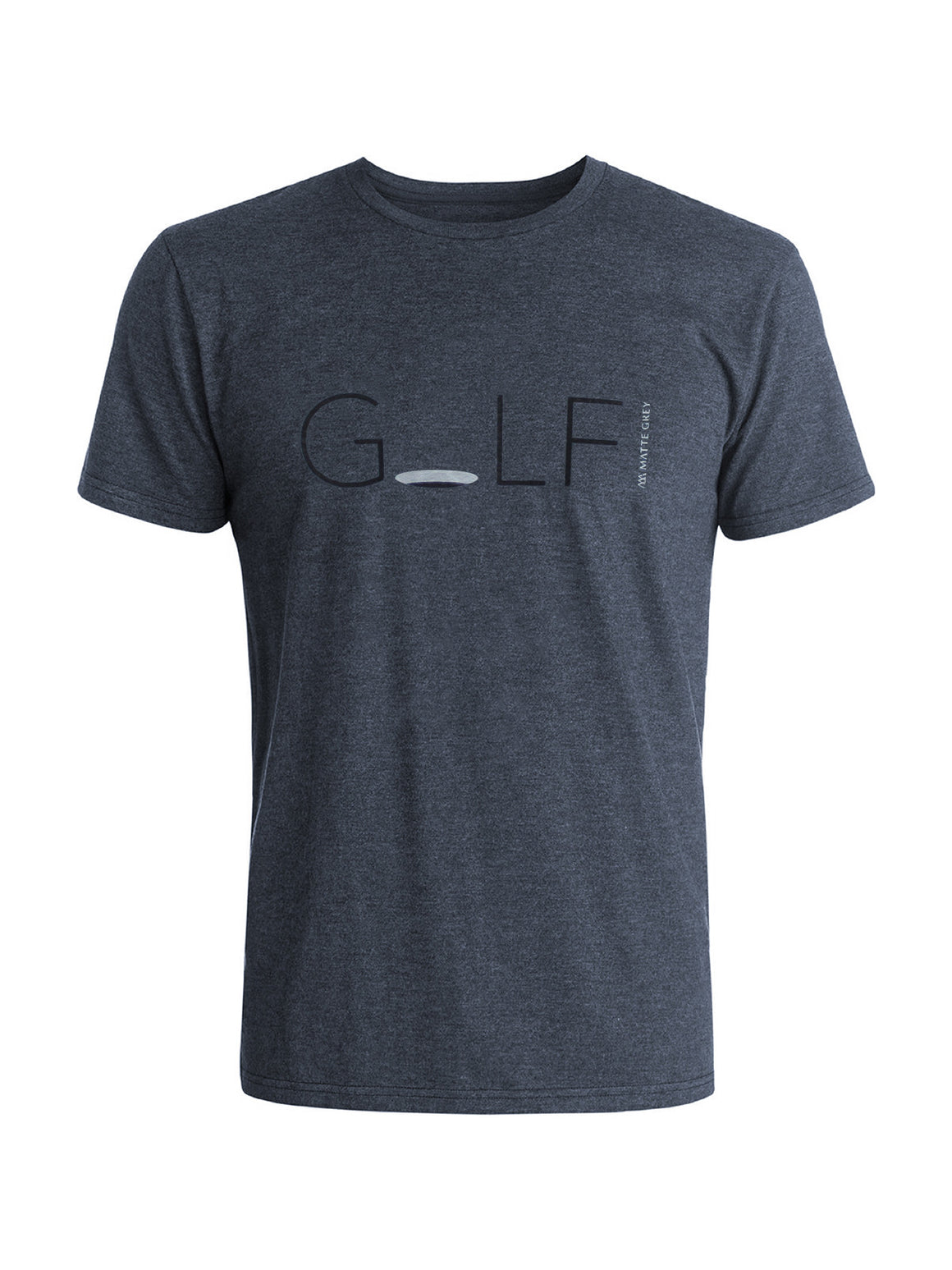 Hole in One Tee Shirt - Navy Heather (Black / Smoke)