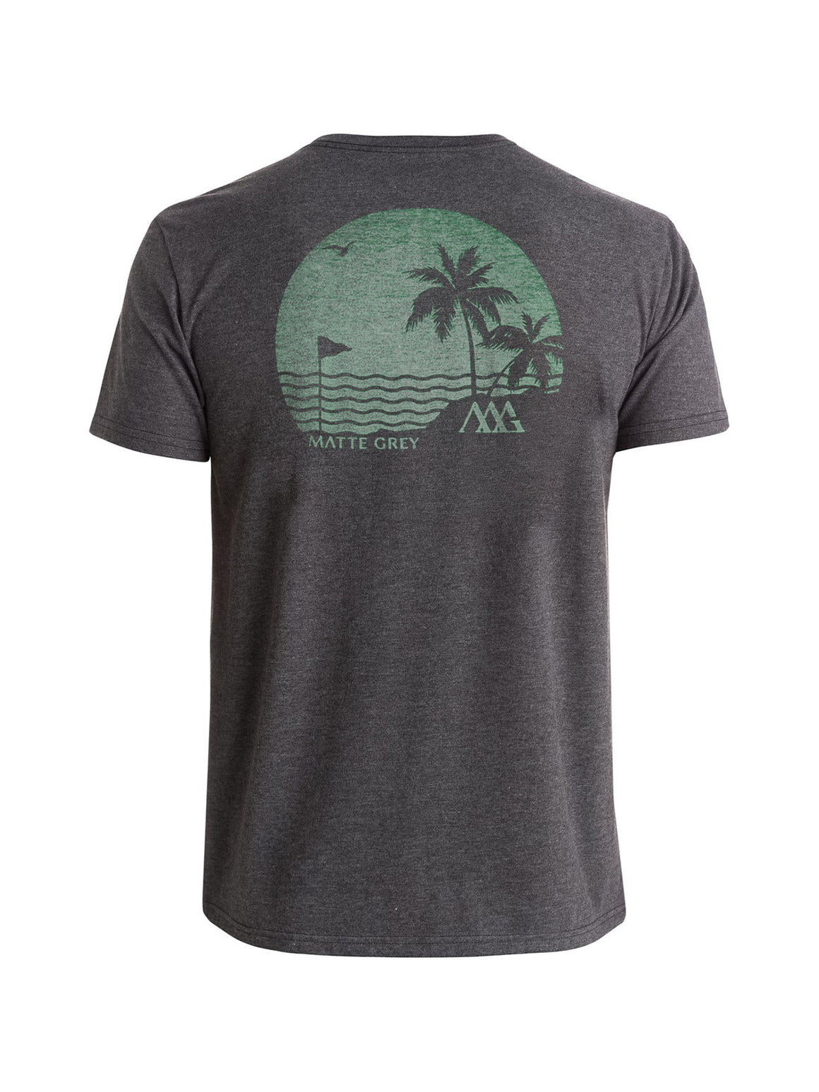 Island Back 9 Tee Shirt - Charcoal Heather (Tortoise)