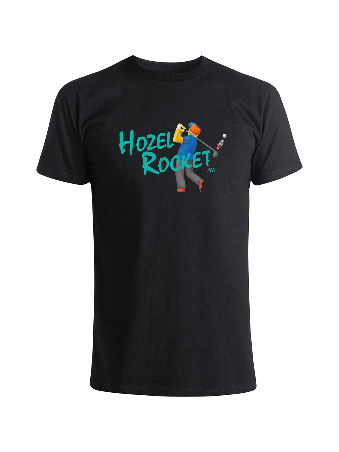 Hozel Rocket Tee Shirt -  Black (Kauai)
