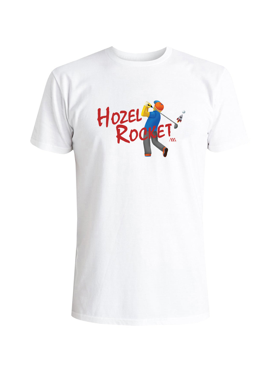 Hozel Rocket Tee Shirt -  White (Red)