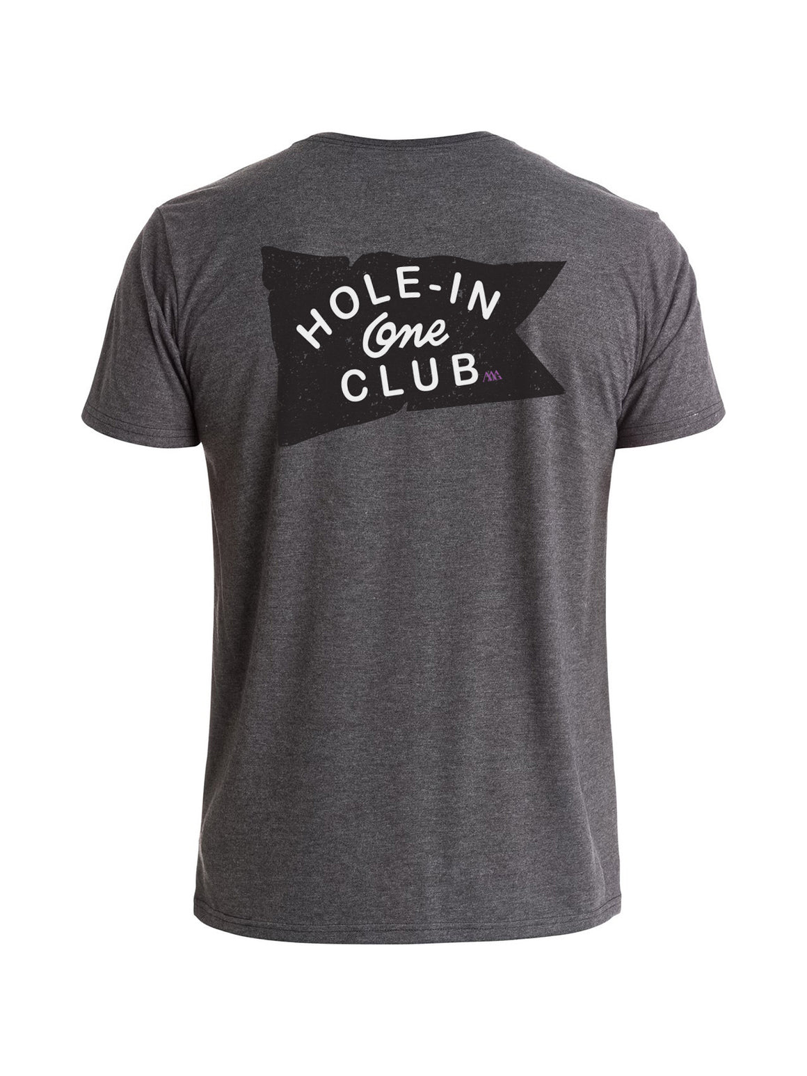 Hole-In-One Club Tee Shirt - Charcoal Heather (Black / Salt)