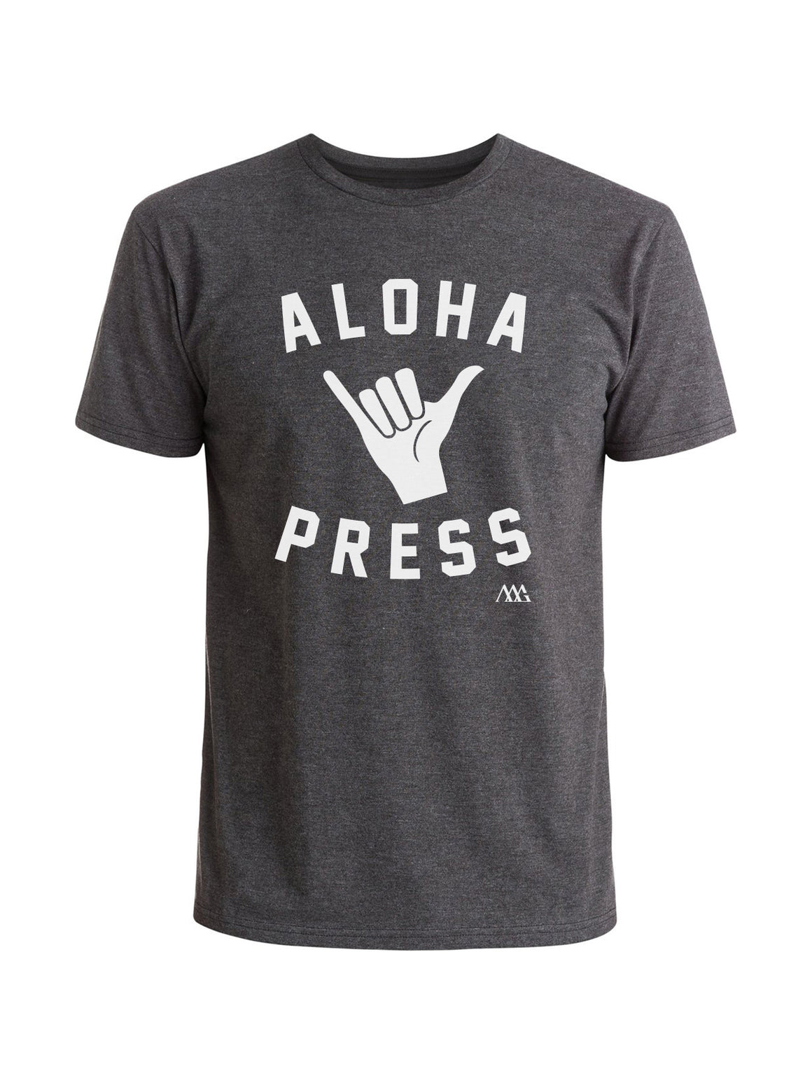 Shaka Tee Shirt - Charcoal Heather (White)