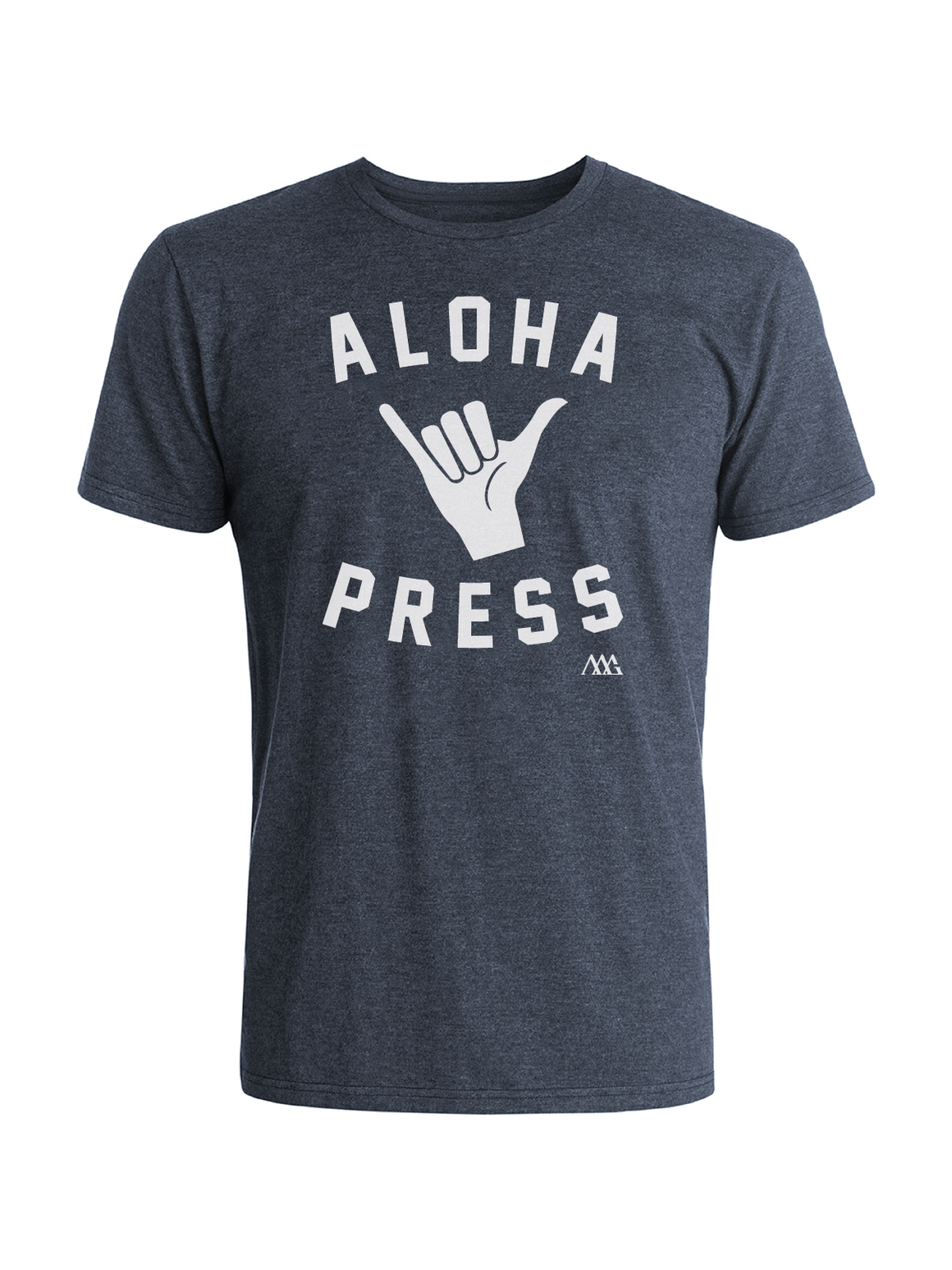 Shaka Tee Shirt - Navy Heather (White)