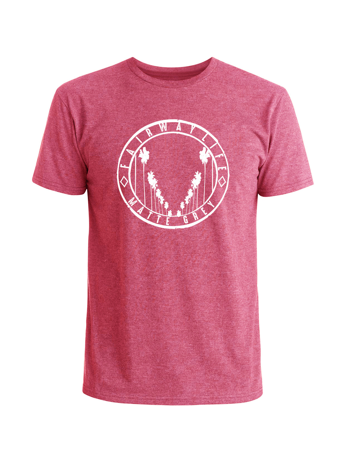 Fairway Life Tee Shirt - Desert Rose Heather