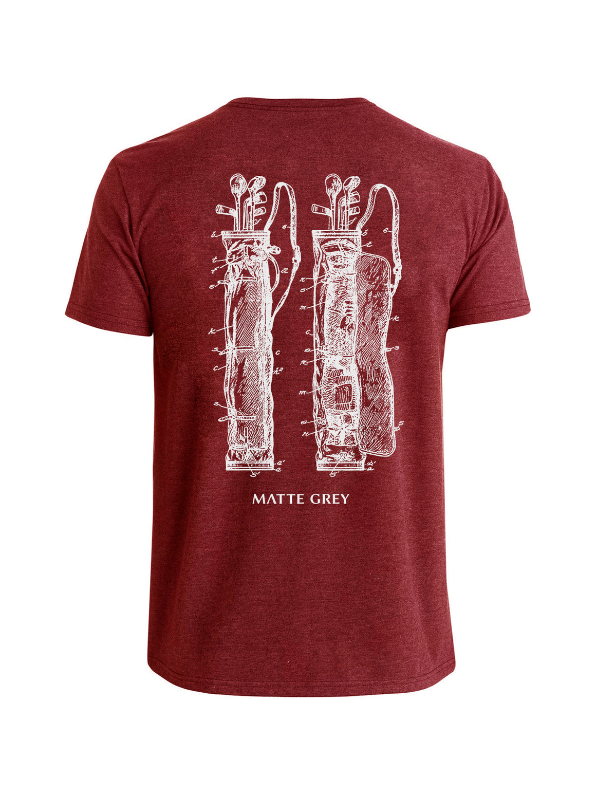 Vintage Bag Tee Shirt - Crimson Heather