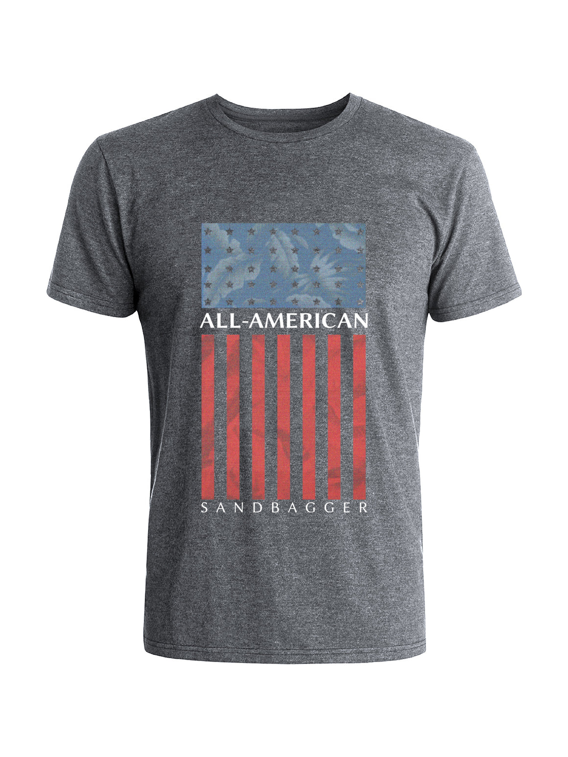 All American Sandbagger Tee -  Steel (Red/White/Blue)