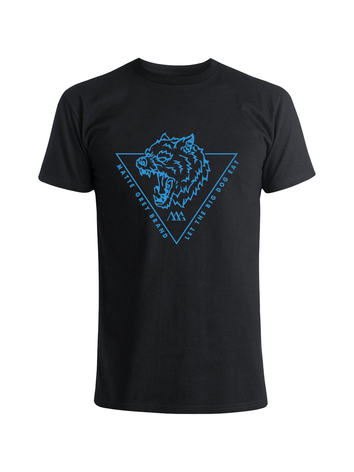 Big Dog Tri Tee Shirt - Black (Coastal Blue)