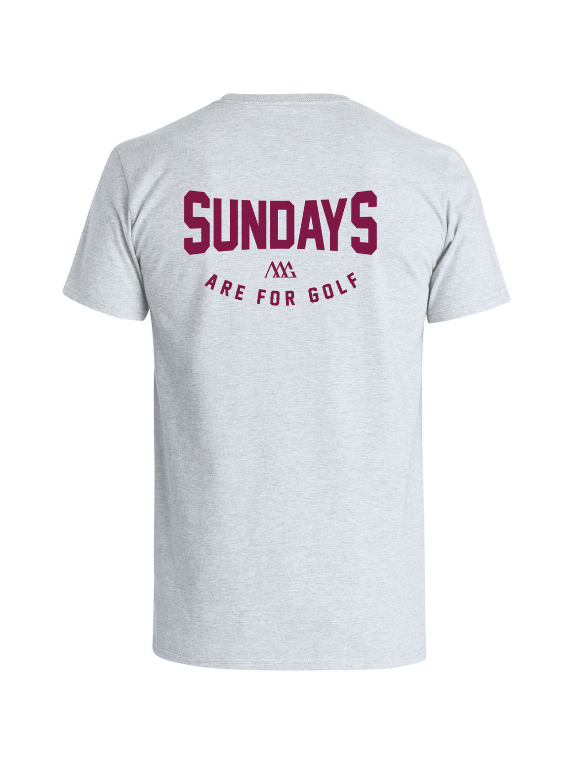 Sundays Golf Tee Shirt - Feather Grey (Pinot)