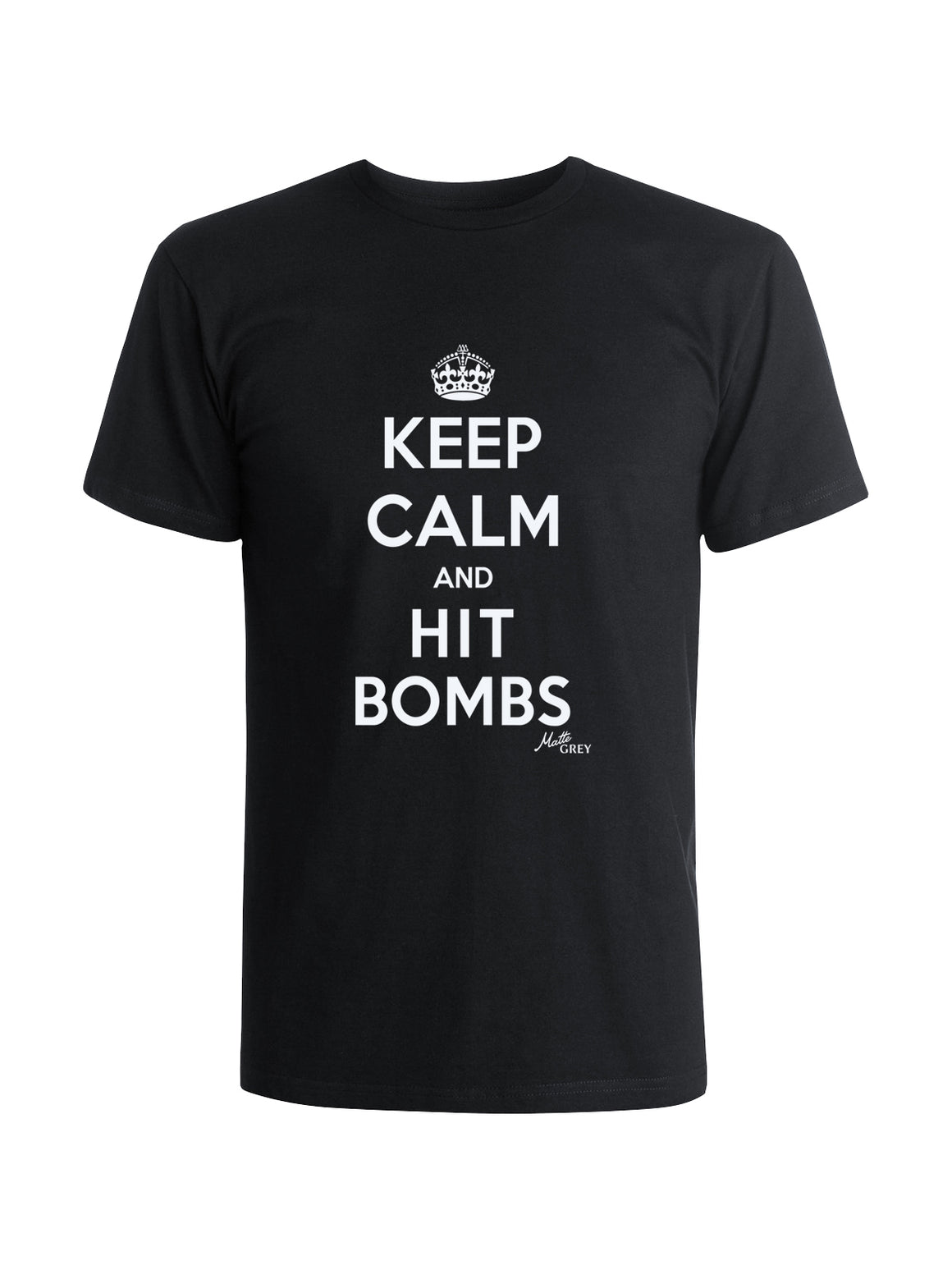 Keep Calm Tee Shirt - Black (White)