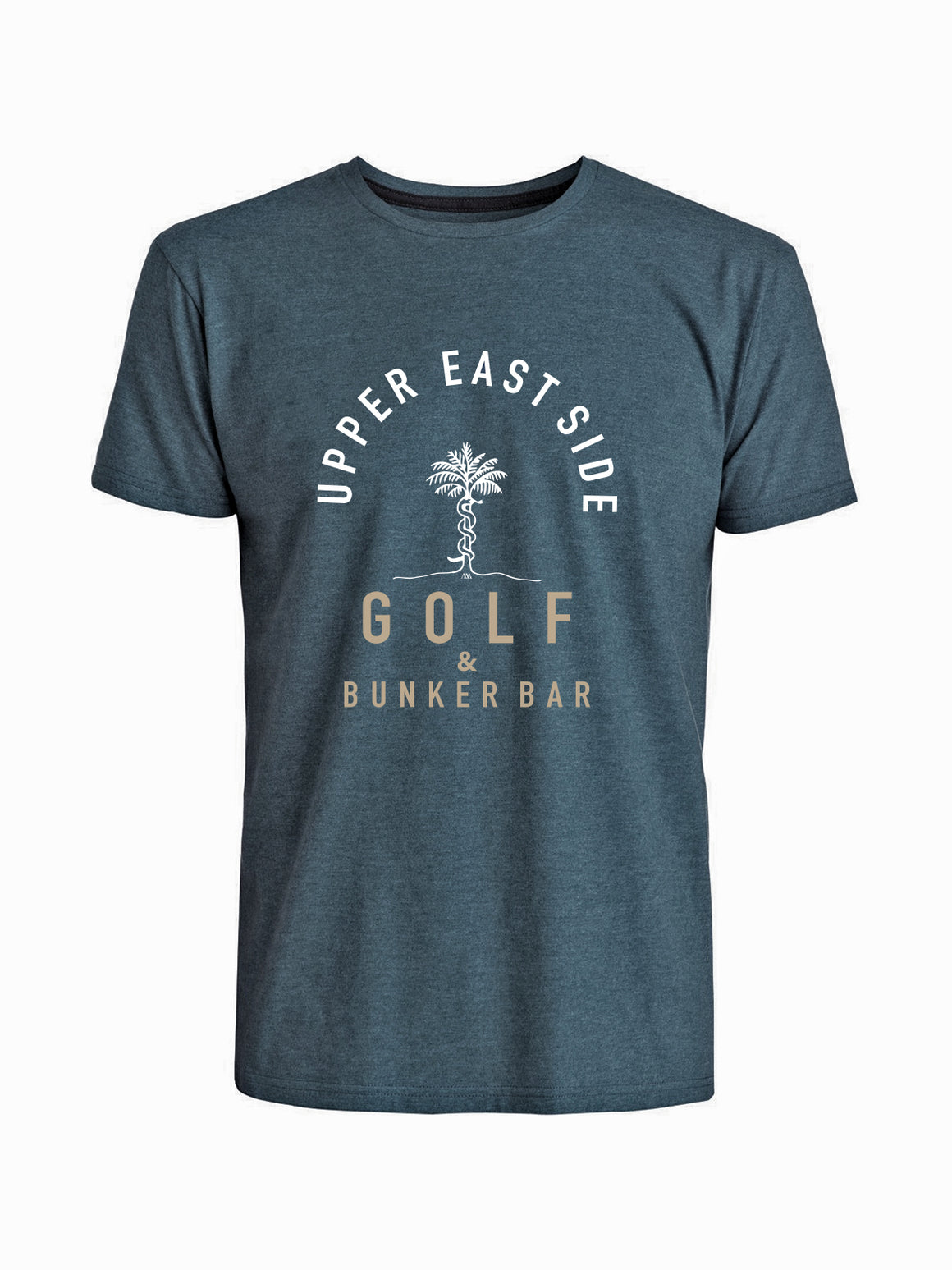 Upper East Side Tee Shirt - Navy (White / Wheat)