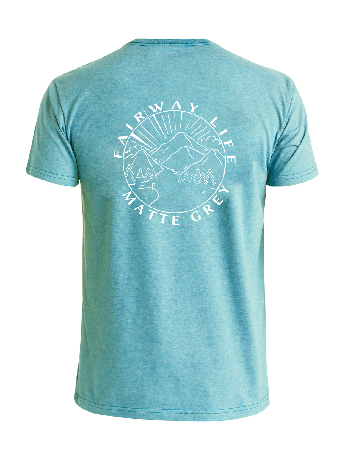 Fairway Life Outdoors Tee Shirt - Ice Blue (White)