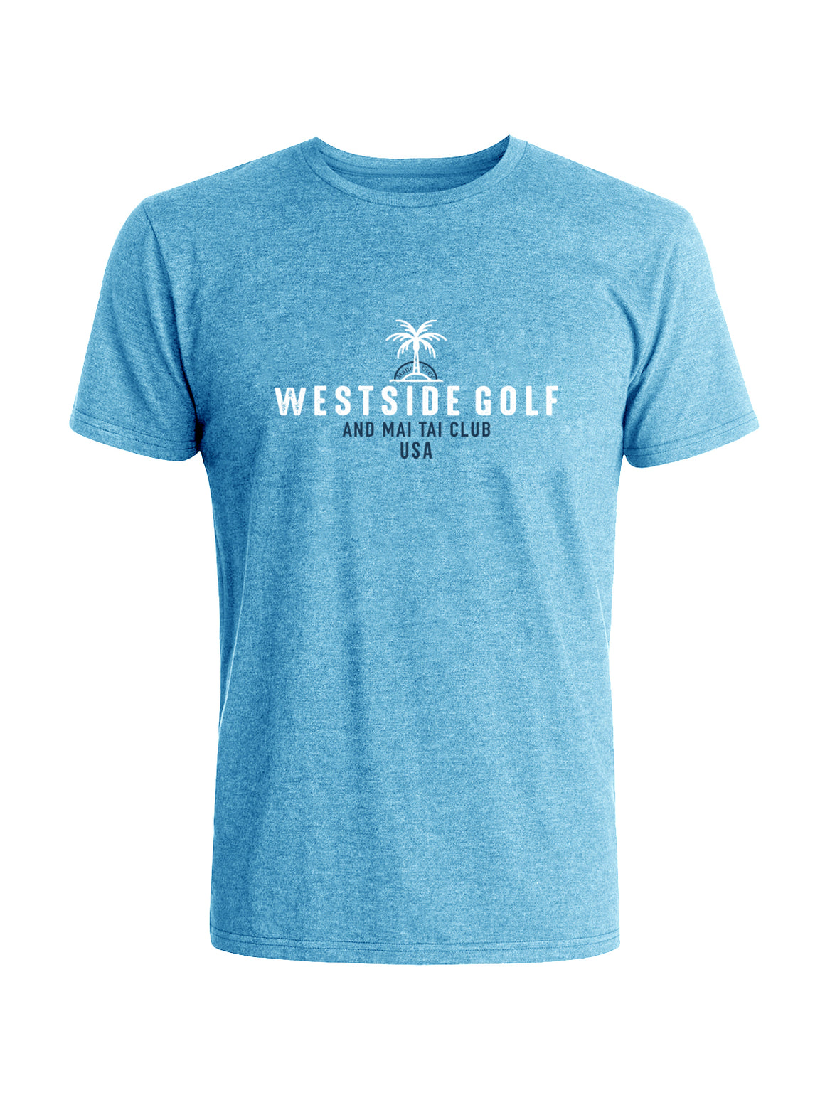 Westside Tee - Sky Blue Heather (White/Navy)