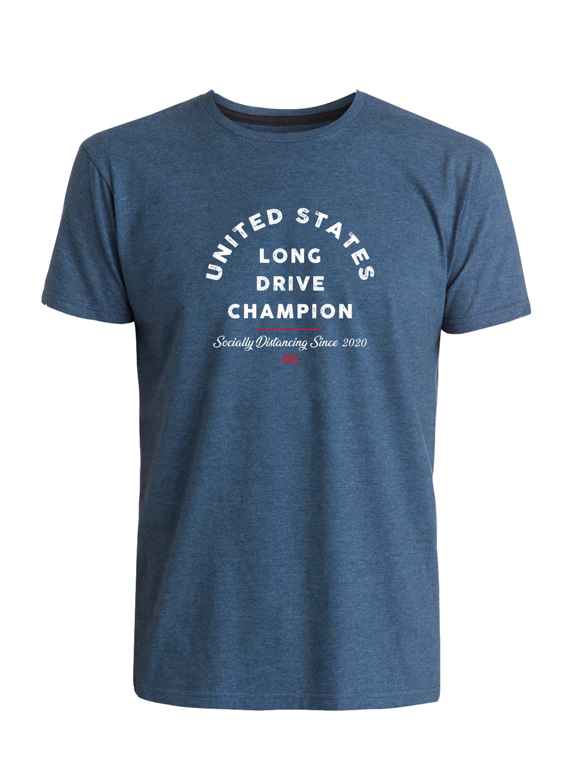 Social Distance Long Drive Tee - Navy (White/Red)