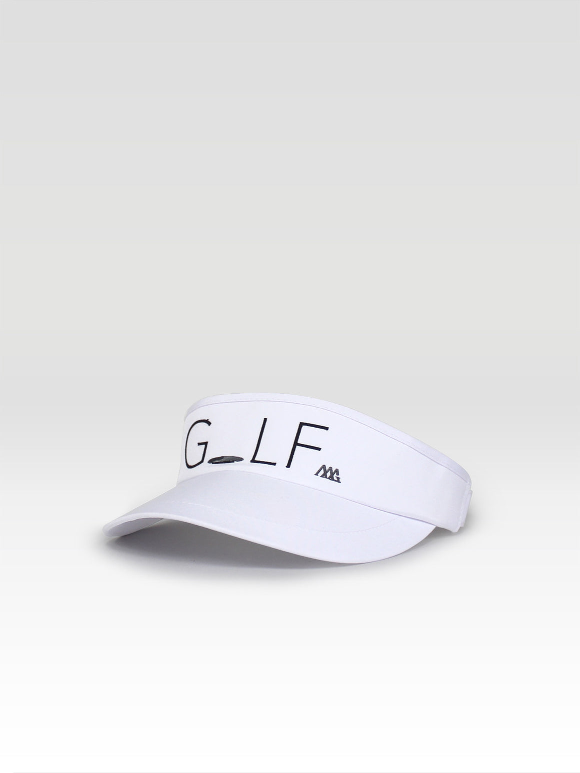 Hole In One Visor - White (Black / Smoke)