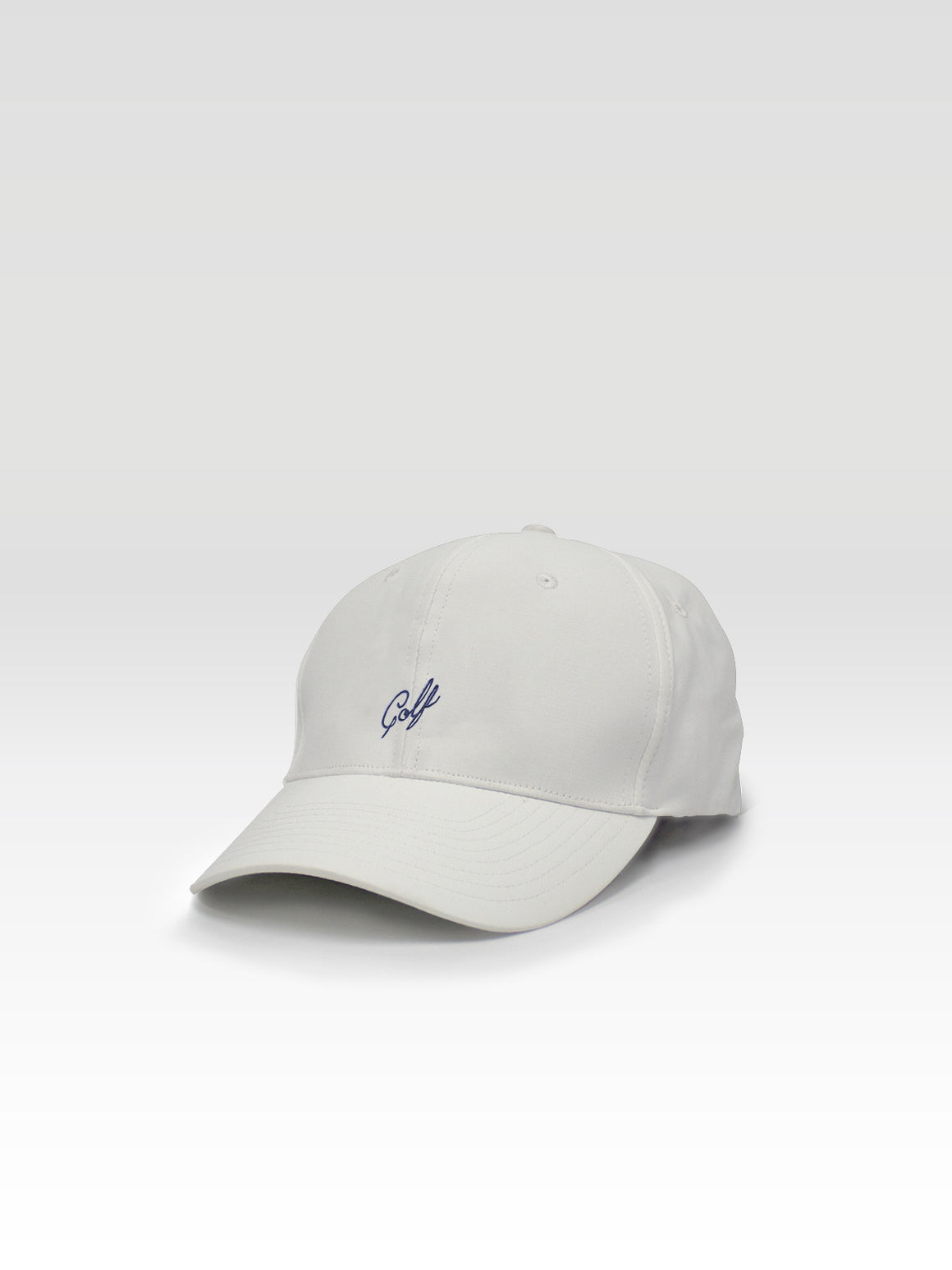 Golf Dad Hat - White (Navy)