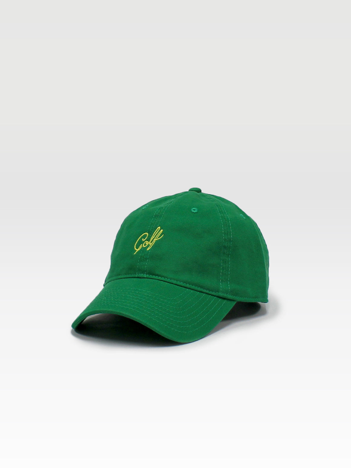 Golf Dad Hat - Green (Yellow)