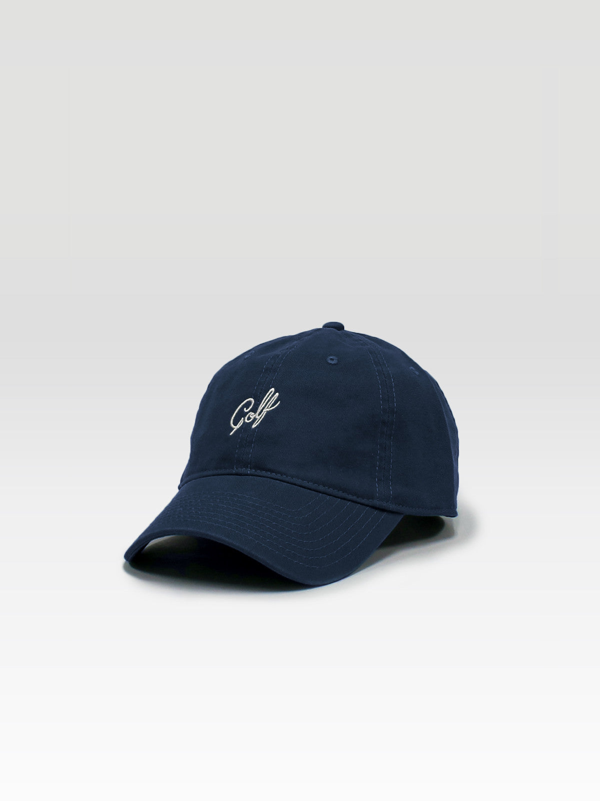 bcc6e7debed Golf Dad Hat - Navy (White) - Haus of Grey