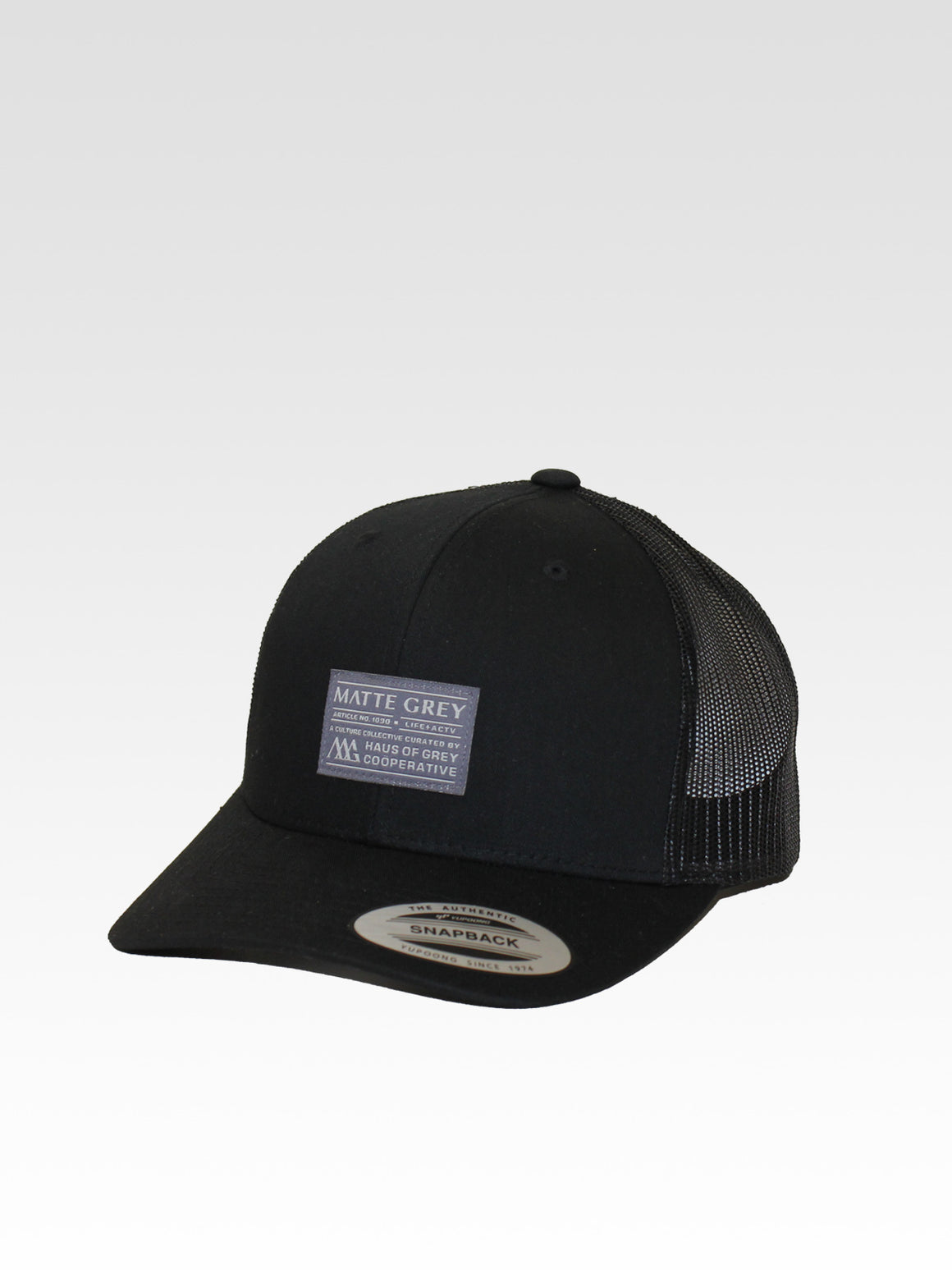 Badge Trucker - Black