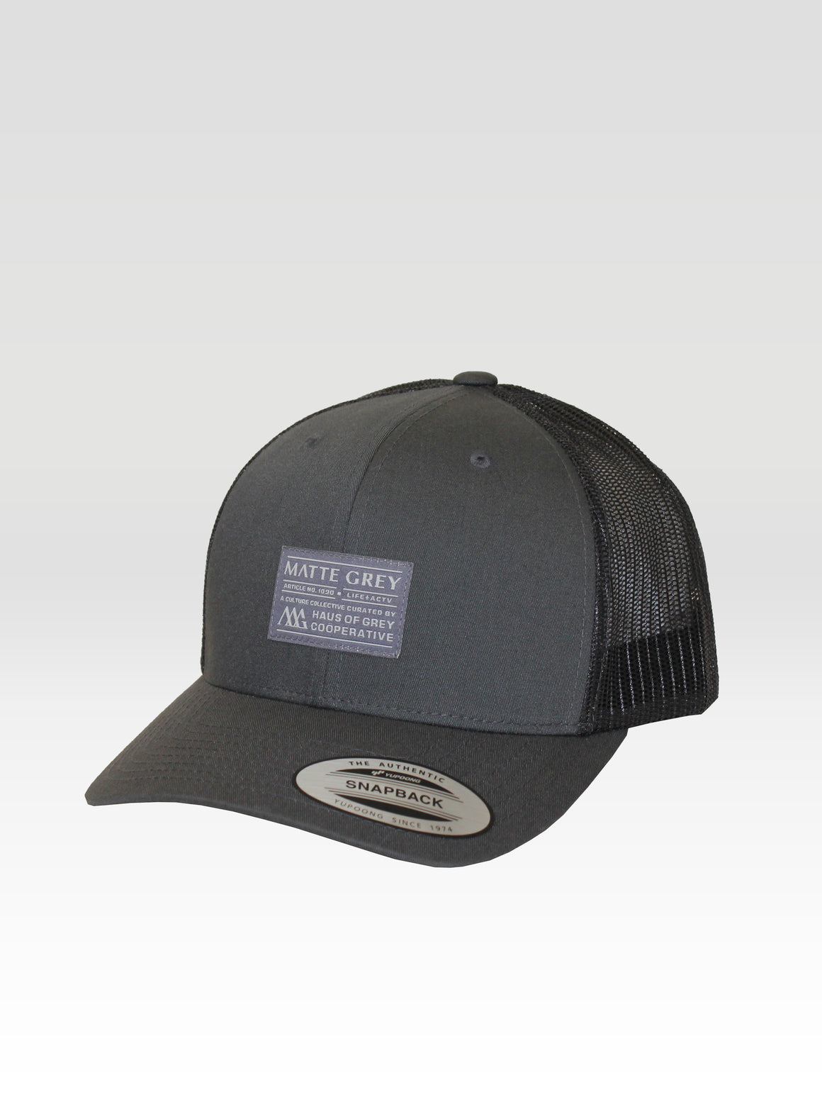 Badge Trucker - Charcoal