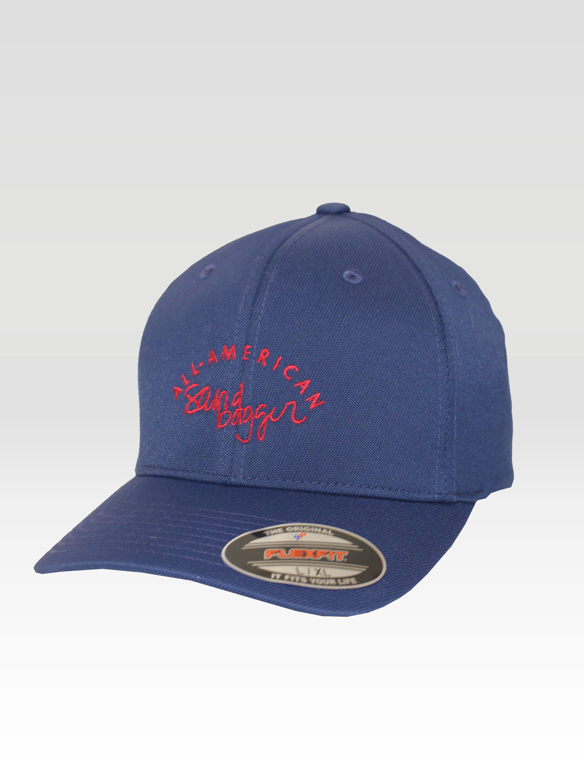 All American Sandbagger Sport Hat - Navy (Red)