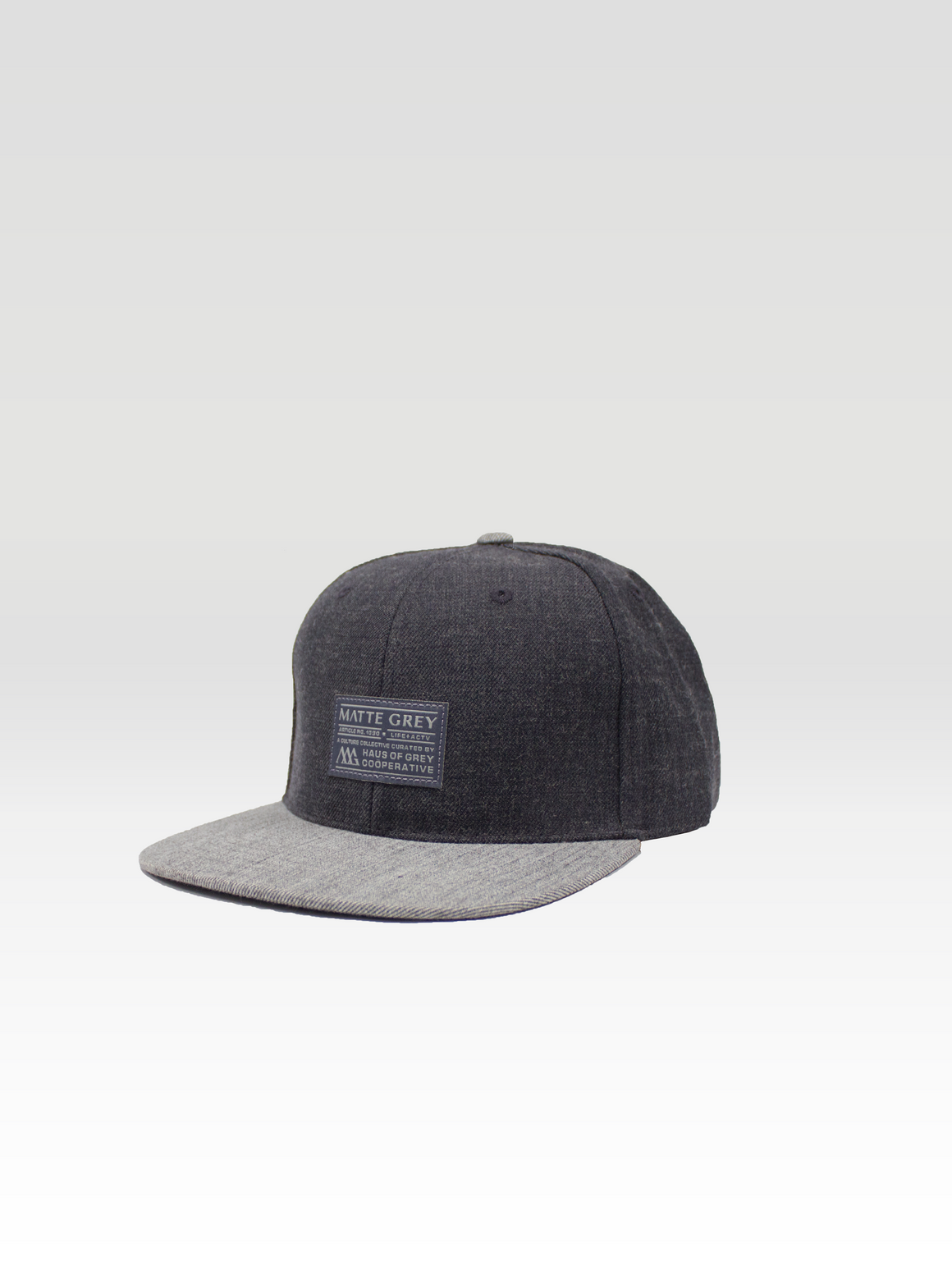 Badge Snapback - Charcoal Heather / Lt Grey Heather