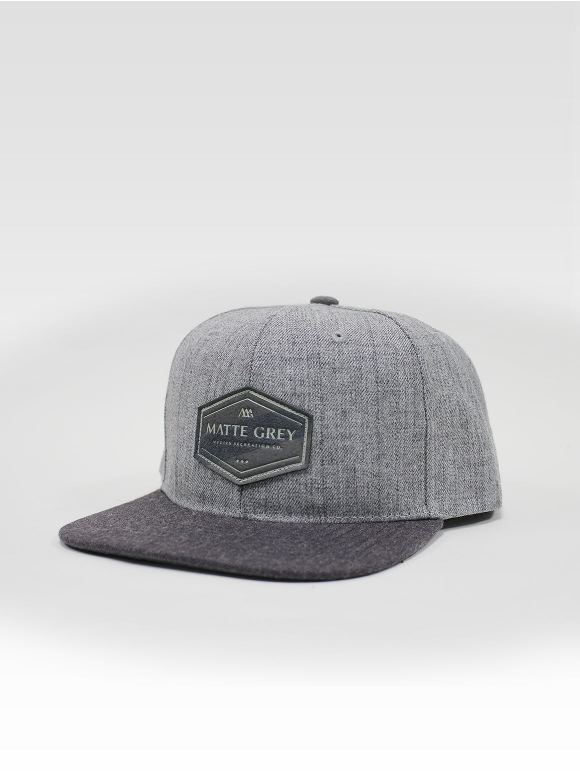 Hex Angle Snapback - Lt Grey Heather (Charcoal Heather)