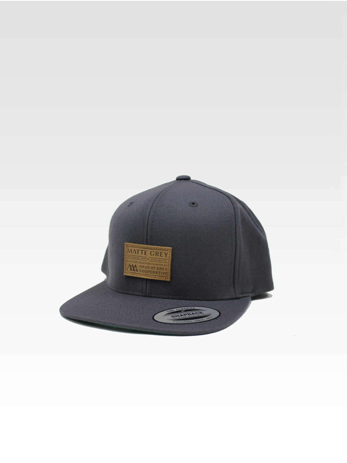 Premium Badge Strapback - Medium Grey