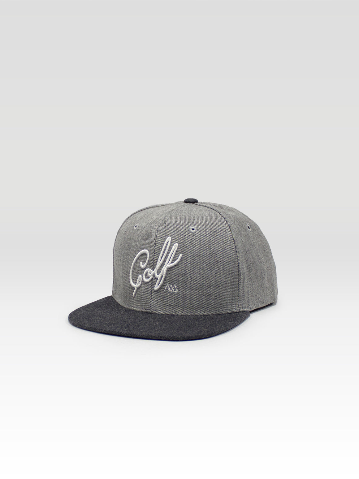 Script Snapback - Light Grey Heather / Charcoal Heather (White)