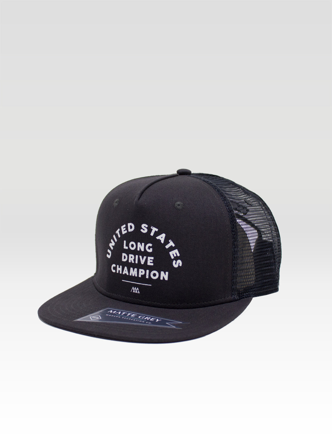 Long Drive Trucker - Charcoal (White)