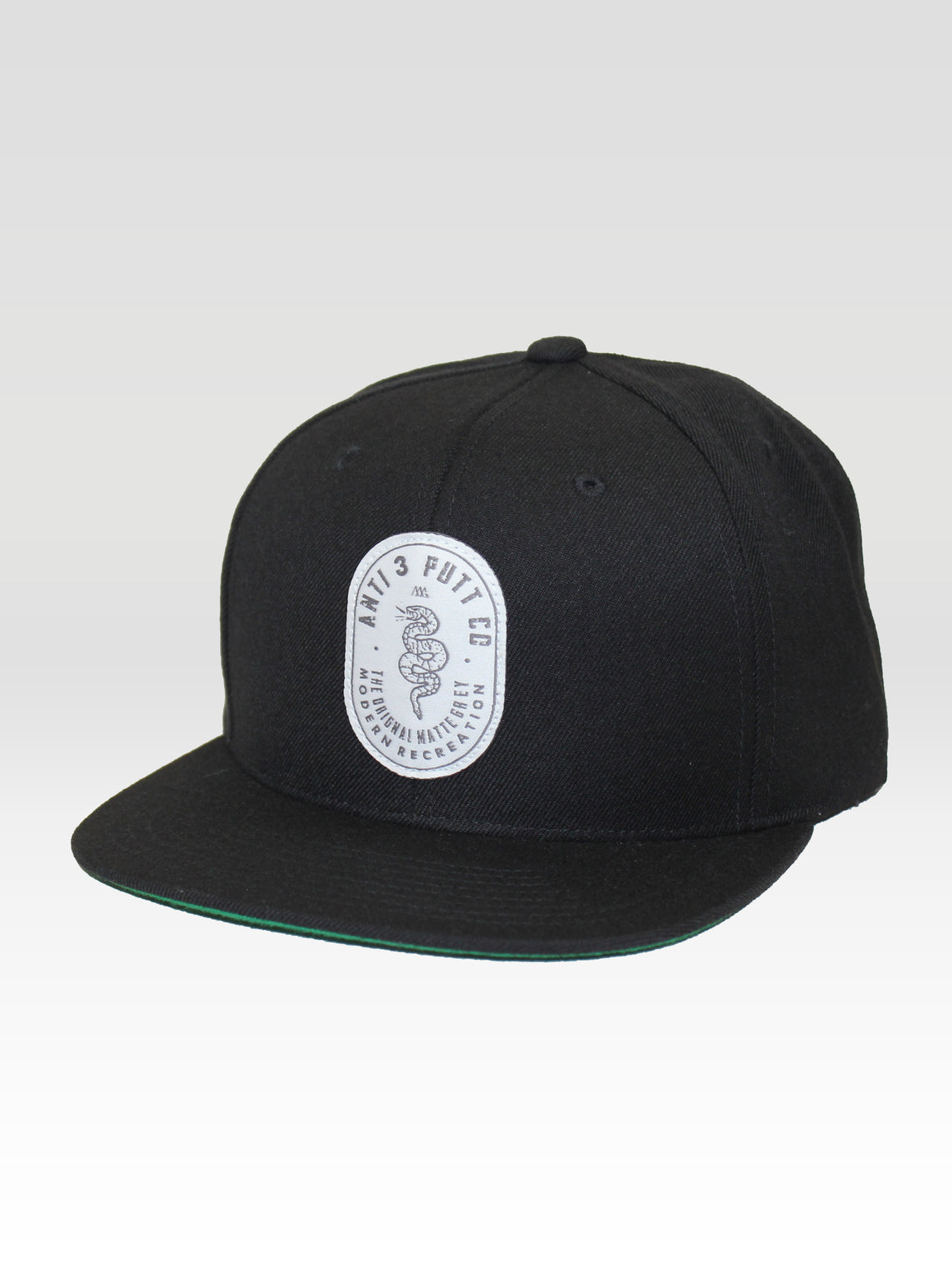 Anti 3 Putt Snapback - Black (White / Grey)