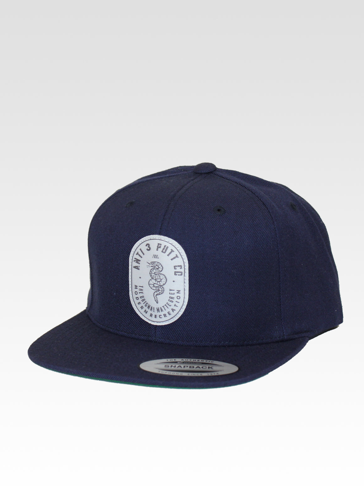 Anti 3 Putt Snapback - Navy (White / Grey)